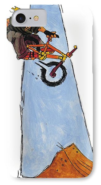 Bmx Drawing Phone Case by Mike Jory
