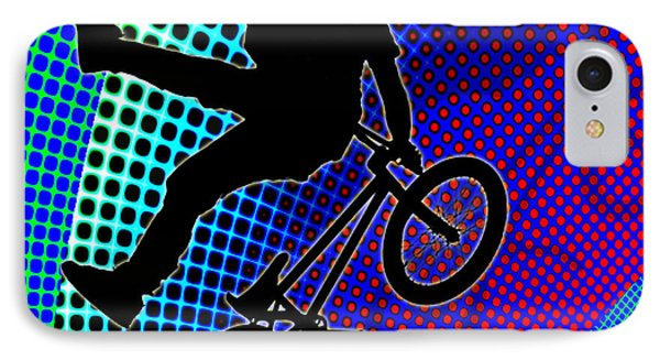 Bmx In Fractal Movie Marquee Phone Case by Elaine Plesser