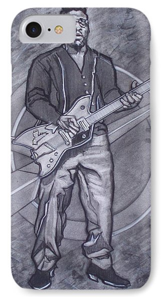 Bo Diddley - Have Guitar Will Travel Phone Case by Sean Connolly