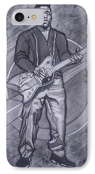 Bo Diddley - Have Guitar Will Travel IPhone Case by Sean Connolly