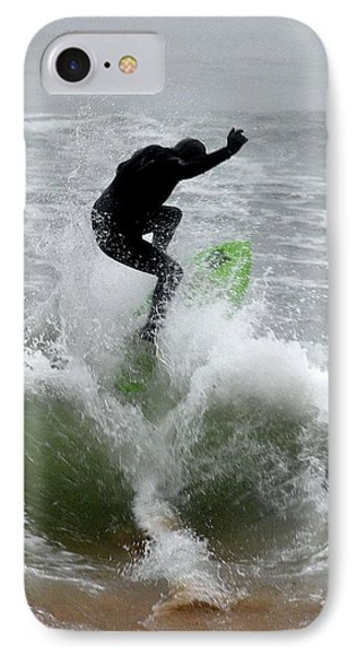 Boardskimming - Into The Surf Phone Case by Kim Bemis