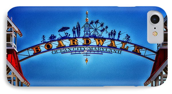 Boardwalk Arch In Ocean City IPhone Case by Bill Swartwout