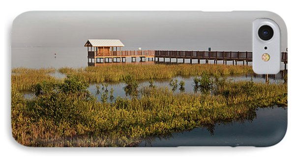 Boardwalk At South Padre Island Birding IPhone Case by Larry Ditto