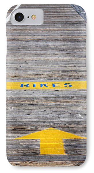IPhone Case featuring the photograph Boardwalk Biking by Mary Beth Landis