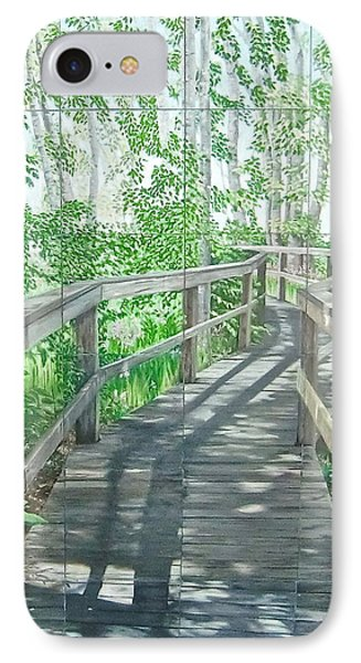 IPhone Case featuring the painting Boardwalk by Bonnie Heather