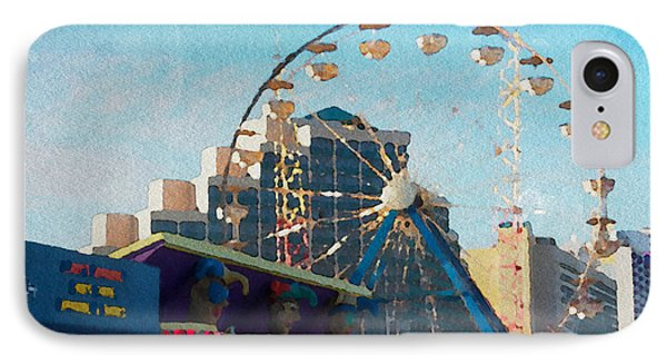 Boardwalk Ferris  IPhone Case by Alice Gipson