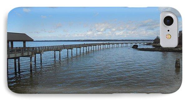 Boardwalk In Blue IPhone Case by Karen Molenaar Terrell