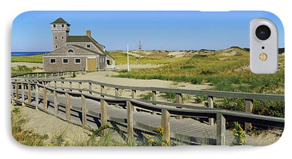 Boardwalk Leading Towards Old Harbor IPhone Case by Panoramic Images