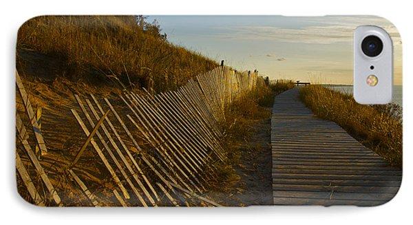 Boardwalk Overlook At Sunset IPhone Case