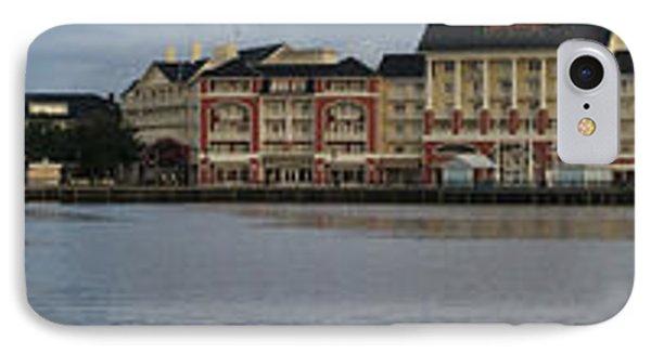 Boardwalk Panorama Walt Disney World IPhone Case by Thomas Woolworth