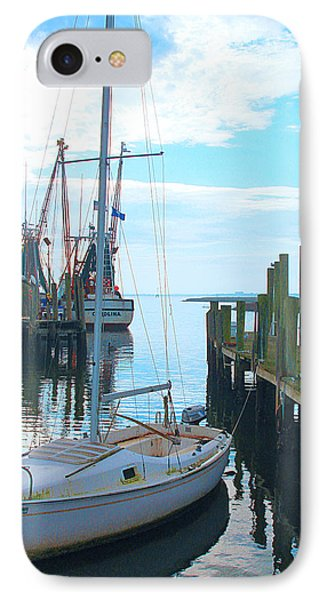 Boat At Dock By Jan Marvin IPhone Case