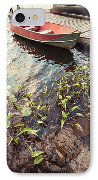 Boat At Dock  IPhone Case by Elena Elisseeva