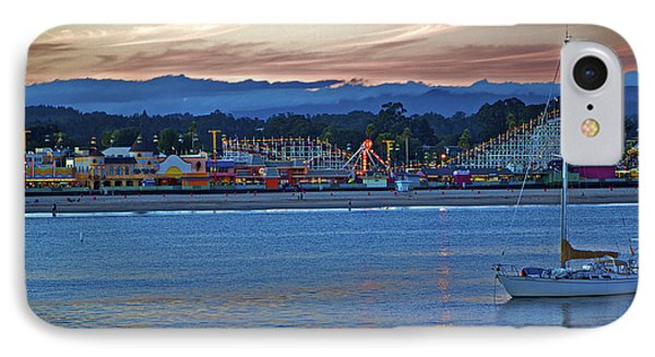 Boat At Dusk Santa Cruz Boardwalk IPhone Case