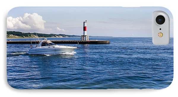 Boat At Holland Pier IPhone Case by Lars Lentz