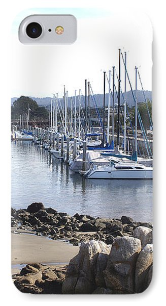 Boat Dock And Big Rocks Right Phone Case by Barbara Snyder