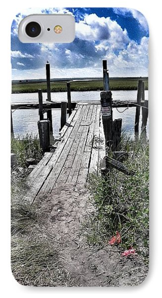 IPhone Case featuring the photograph Boat Dock With Gulls by Patricia Greer