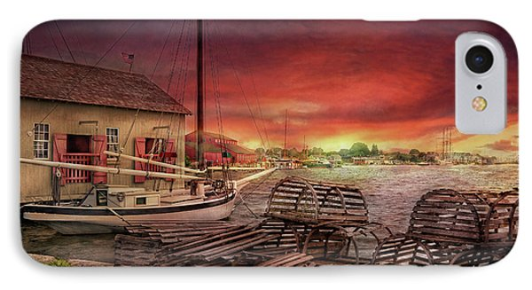Boat - End Of The Season  Phone Case by Mike Savad