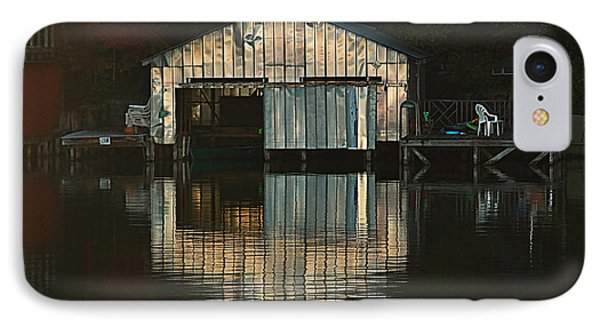 IPhone Case featuring the photograph Boat House Effects by Tammy Schneider