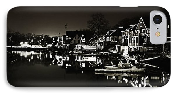 Boat House Row - In The Dark Of Night Phone Case by Bill Cannon