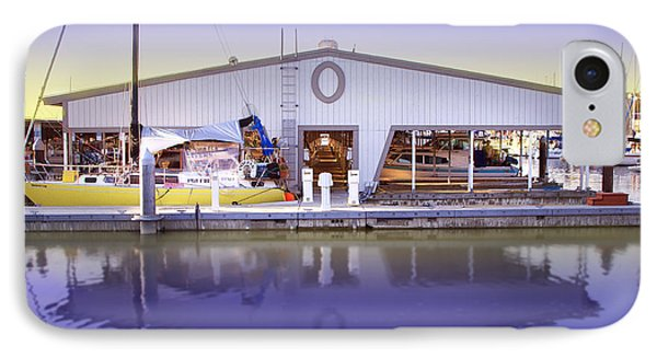 IPhone Case featuring the photograph Boat House by Sonya Lang