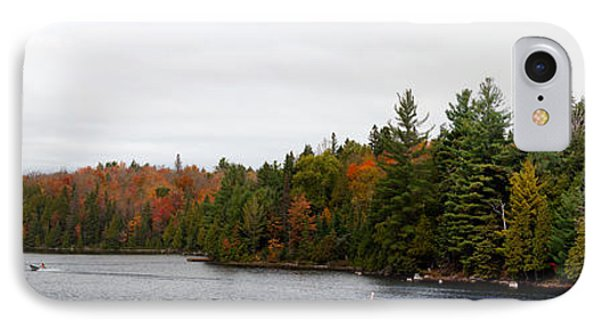 Boat In Canoe Lake, Algonquin IPhone Case by Panoramic Images