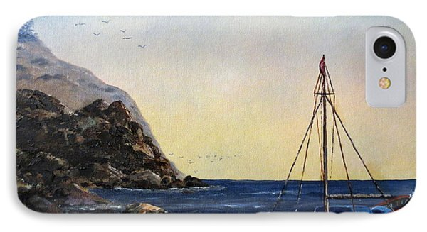 Boat In Maine Phone Case by Lee Piper