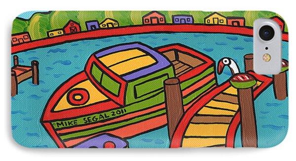 Boat In The Bayou - Cedar Key Phone Case by Mike Segal