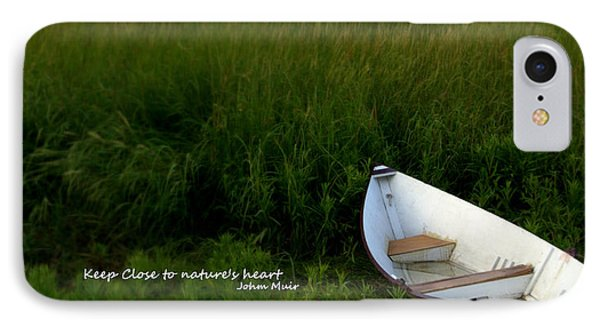 IPhone Case featuring the photograph Boat In The Marsh by Caroline Stella
