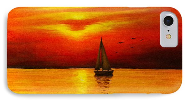 Boat In The Sunset IPhone Case by Bozena Zajaczkowska