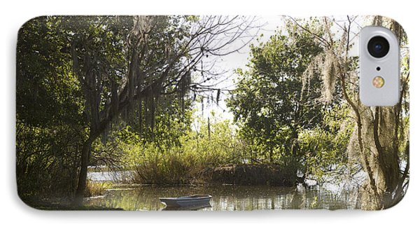 Boat On Lake Alice IPhone Case by William Ragan