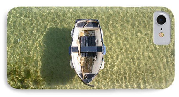Boat On Ocean Phone Case by Pixel Chimp