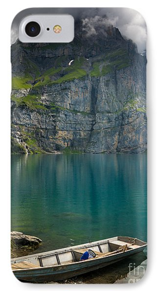 Boat On The Oeschinensee - Swiss Alps  IPhone Case