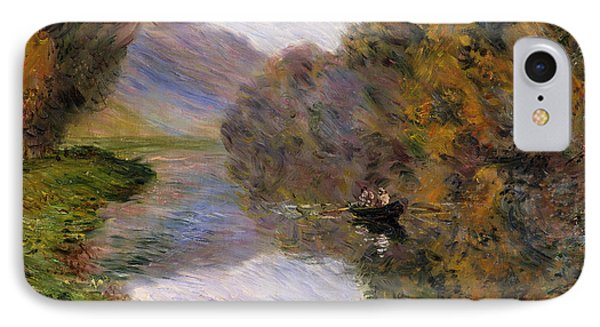 Boat On The Seine Near Jeufosse IPhone Case by Claude Monet