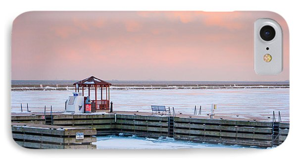 IPhone Case featuring the photograph Boat Pier Lake Michigan by Dawn Romine
