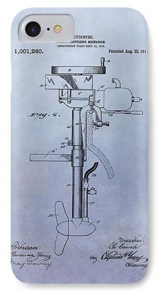 Boat Propeller Patent Drawing 1911 IPhone Case