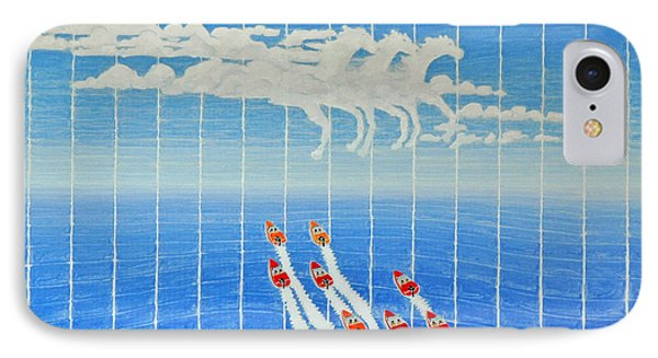 Boat Race Horse Clouds IPhone Case