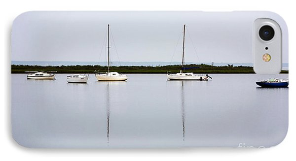 Boat Reflections Phone Case by John Rizzuto