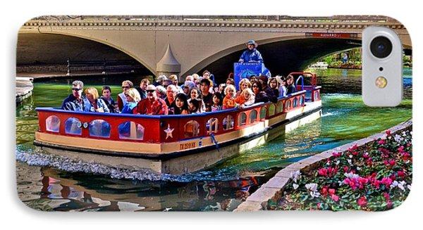 IPhone Case featuring the photograph Boat Ride At The Riverwalk by Ricardo J Ruiz de Porras