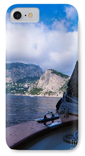 IPhone Case featuring the photograph Boat Ride To Capri by Mike Ste Marie