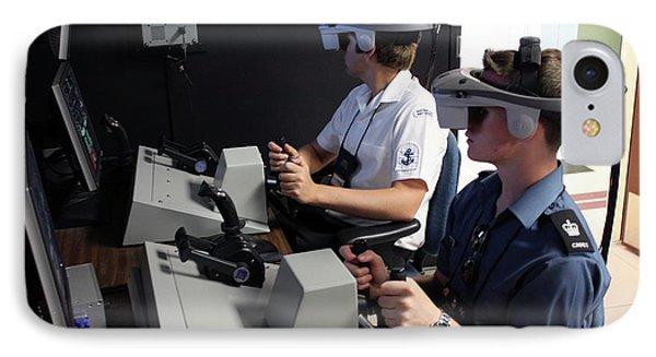 Boat Simulator Consoles IPhone Case by Us Air Force/bob Krekorian