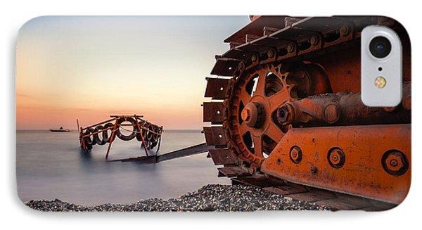 Boat Tractor IPhone Case by Alfio Finocchiaro