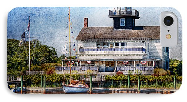 Boat - Tuckerton Seaport - Tuckerton Lighthouse Phone Case by Mike Savad