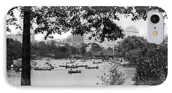Boaters In Central Park IPhone Case