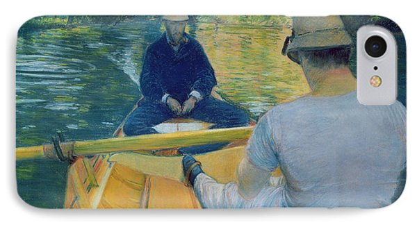 Boaters On The Yerres Phone Case by Gustave Caillebotte