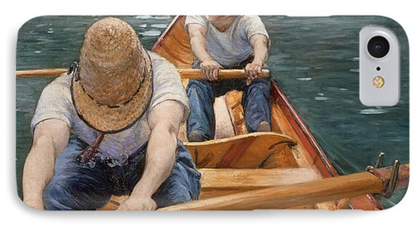 Boaters Rowing On The Yerres IPhone Case