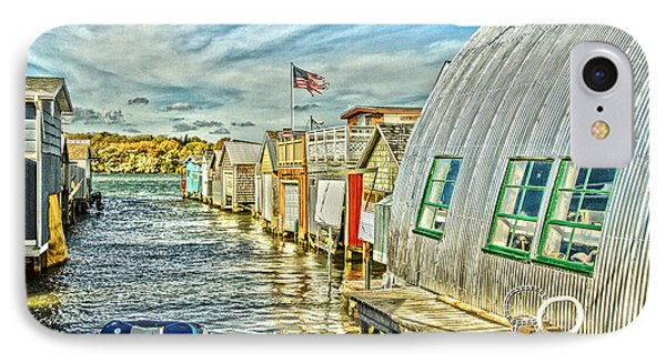 Boathouse Alley IPhone Case by William Norton