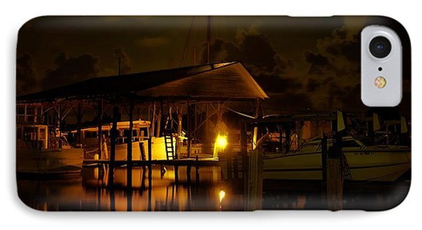 Boathouse Night Glow Phone Case by Michael Thomas