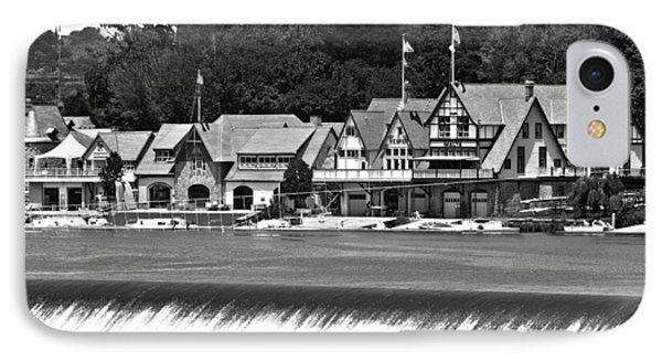 Boathouse Row - Bw IPhone Case by Lou Ford