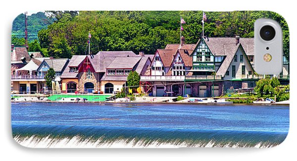 Boathouse Row - Hdr IPhone Case by Lou Ford