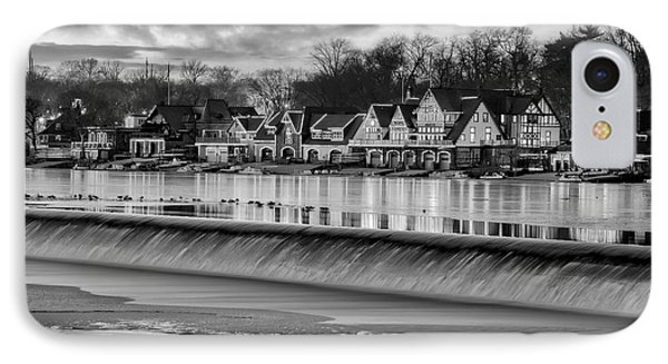 Boathouse Row Philadelphia Pa Bw IPhone Case